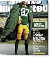 Green Machine What Makes Jordy Nelson The Nfls Most Sports Illustrated Cover Canvas Print
