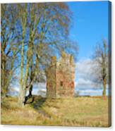 Greenknowe Tower In Late Winter Sun Scottish Borders Canvas Print