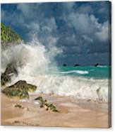 Greetings From The Beach Canvas Print
