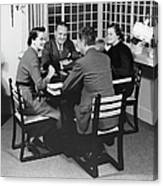 Group At A Table Canvas Print