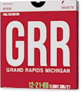 Grr Grand Rapids Luggage Tag II Canvas Print