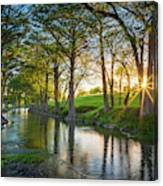Guadalupe River Sunset Canvas Print