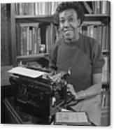 Gwendolyn Brooks With Typewriter Canvas Print