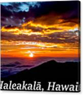 Haleakala Hawaii Canvas Print