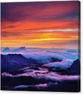Haleakala National Park Crater Sunrise Canvas Print