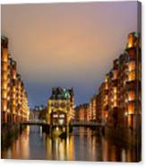 Hamburg Hafen  City Canvas Print