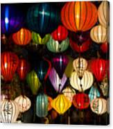 Handcrafted Lanterns In Ancient Town Canvas Print