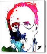 Hannibal Lecter Watercolor Canvas Print