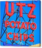 Hanover Pa Skyline - Utz Potato Chips No. 1 - Carlisle Street Canvas Print
