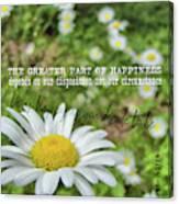 Happy Daisy Quote Canvas Print