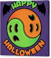 Happy Halloween Ghost Yin-yang Canvas Print