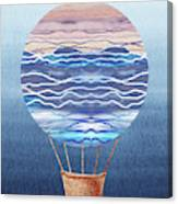 Happy Hot Air Balloon Watercolor Xxvi Canvas Print