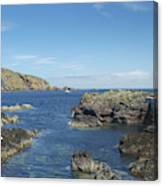 harbour entrance at St. Abbs, Berwickshire Canvas Print