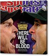 Harbowl Sunday There Will Be Blood Sports Illustrated Cover Canvas Print