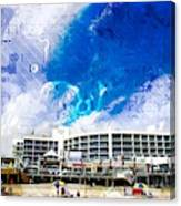 Hard Rock Beach Abstract Canvas Print