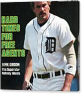 Hard Times For Free Agents Kirk Gibson, The Superstar Sports Illustrated Cover Canvas Print