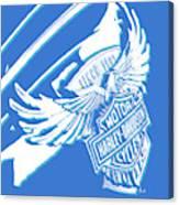 Harley Davidson Tank Logo Abstract Artwork Canvas Print