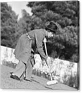 Harpo Marx Playing Croquet Canvas Print