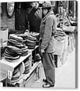Harry Kregman, Owner Of Hats & Caps, At Canvas Print