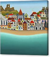 Hastings From The Sea Canvas Print