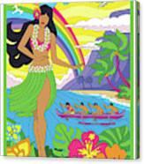 Hawaii Poster - Pop Art - Travel Canvas Print