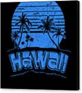 Hawaii Sunset Beach Vacation Paradise Island Blue Canvas Print