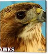 Hawks Mascot 3 Canvas Print
