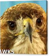 Hawks Mascot 4 Canvas Print