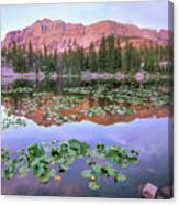 Hayden Peak And Butterfly Lake, Uinta Canvas Print