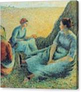 Haymakers Resting, 1891 Canvas Print