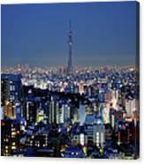 Hazy Skyline With Tokyo Sky Tree Canvas Print