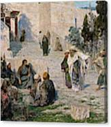 He That Is Without Sin, 1908 Canvas Print