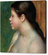 Head Of A Young Girl, 1882 Canvas Print