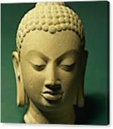 Head Of The Buddha, Sarnath Canvas Print