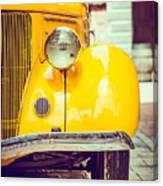 Headlight Lamp  Vintage Car - Vintage Canvas Print