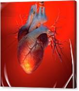 Heart Attack, Conceptual Artwork Canvas Print