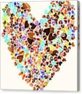 Heart Of A Hippie Canvas Print