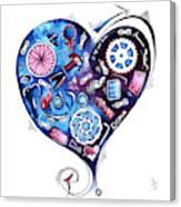 Heart Racing A Mad Shredder Biking Cycling Painting By Megan Duncanson Canvas Print