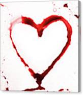 Heart Shape From Splaches And Blobs Canvas Print