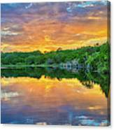 Heavenly Reflections In The Hill Country Canvas Print