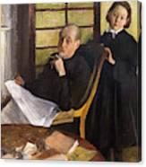 Henri Degas And His Niece Lucie Degas Canvas Print