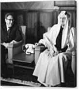 Henry Kissinger With King Faisal Canvas Print