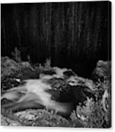 Hepokongas Waterfall Bw Canvas Print