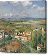 Hermitage In Summer, Pontoise, 1877 Canvas Print
