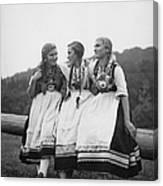 Hessian Girls Canvas Print