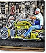 His Brodix Yellow Canvas Print