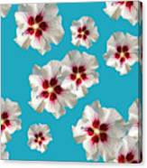 Hibiscus Flower Pattern Canvas Print