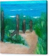 Hidden Beach Canvas Print