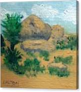 High Desert Rock Garden Canvas Print