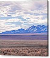 High Plains And Majestic Mountains Canvas Print